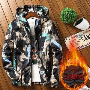 Kiby Veste D'hiver Hommes Chaud De Haute Qualité En Coton Vestes De Mode Hommes VogueThick À Capuche Ouatiné Vers Le Bas Veste Surdimensionné M-6XL