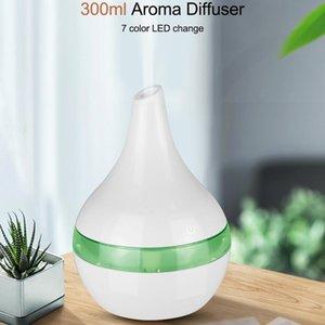 300ml USB umidificatore ad ultrasuoni legno bianco elettrico Aroma Diffusore aromaterapia olio essenziale nebbia fredda Maker per auto