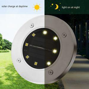 Luce solare a terra 8 LED paesaggio prato lampada giardino di casa scale esterne PIR Sensore a terra luce del pavimento del sensore