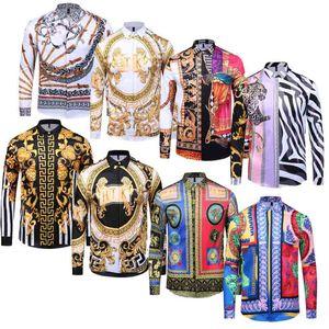 Marque New Mens Medusa Chemises 2019 À Manches Longues Slim Fit Robe Chemises Business Harajuku Casual Hommes Chemise