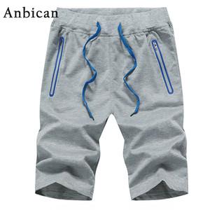 Anbican 2017 Sommer Mode Shorts Männer Einfarbig Gerade Casual Shorts Marke Neue Mens Workout Jogger Plus Größe M-4XL