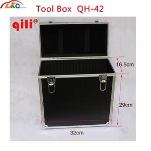 Qili QH-42 Toolbox Çok fonksiyonlu plastik araç kutusu kutusu ile kolu Max Siyah Renk Plastik Alet Kutusu Saklama Kutusu Konteyner