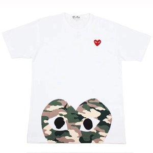 Maglietta di marca da uomo Maglietta da donna Maglietta manica corta Designer T-shirt Cuore stampato T-shirt divertente Tinta unita Abiti estivi