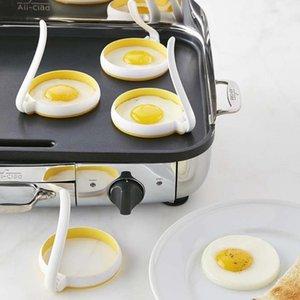 Silikon Plastik Fried Yumurta Shaper Yuvarlak Fry Fried Yumurta Shaper Yapışmaz Gözleme Halka Çember Kalıp Mutfak Aksesuarları DBC BH3556 Araçlar Pişirme