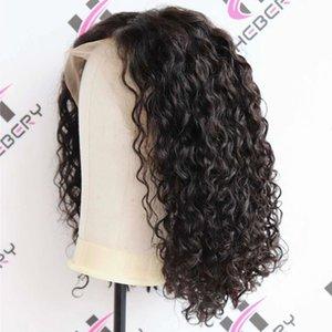 Court onduleux Lace Front Cheveux Perruques Cheveux brésiliens Glueless de dentelle de cheveux humains Perruques Vague Lace Wig meilleure qualité