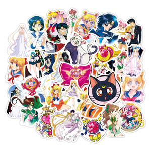 autocolantes 50 PCS de Sailor Moon anime meninas impermeáveis para Laptop bagagem Skate Suitcase guitarra adesivo