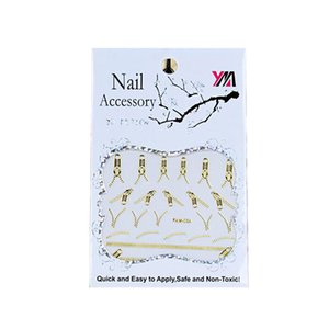 30 Feuilles Or Creux Bronzage Nail Autocollants Marque Logo 3D Nail Art Autocollants Autocollants de Transfert Manucure DIY Décoration Outils TMB43