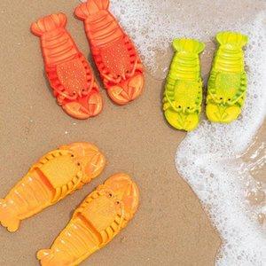 SAGACE 2020 Geliş Komik Istakoz Erkekler Ayakkabı Yaz Terlik Sıcak Stil Beach ıstakoz Terlik Kadın Ayakkabı A525