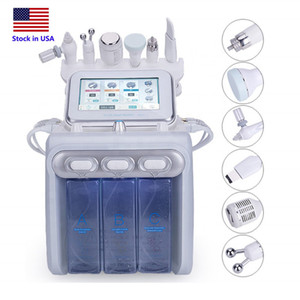 Stock in USA 6in1 Hydrafacial Dermabrasion Machine Water Oxygen Jet Peel Skin Scrubber Facial Beauty Deep Cleansing RF Cold Hammer