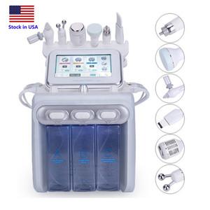 Фото в США 6in1 HydraFacial дермабразия машина воды Кислород Jet Peel кожи скруббер для лица Beauty Очищающая RF Cold Хаммера
