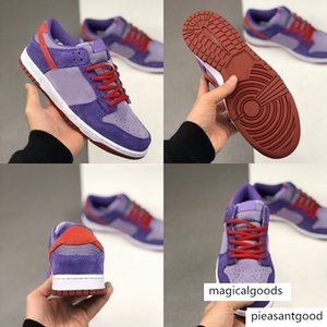 with box Dunk SB Low Plum Women Mens Running Shoes purple Trainers Sude Sports Sneakers des Chaussures Zapatos schuhe Zapatos off