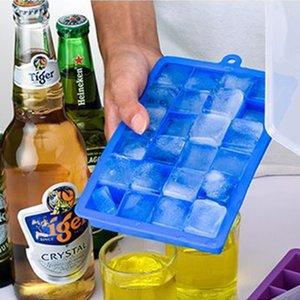 Atacado 24 Holes DIY Criativo Cube pequeno Ice Mold Quadrado Silicone Bandeja Ice Cube Fruit Ice Maker Bar Acessórios de cozinha DH0562