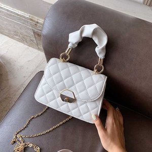 Folding Handle Quilted Crossbody Bags For Women 2020 Handbag Small Bag PU Leather Design Luxury Hand Bag Ladies Designer Bags