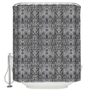 흑백 동물 패턴 뱀 PrintBathroom 샤워 커튼 욕실 액세서리 샤워 커튼 라이너 커튼