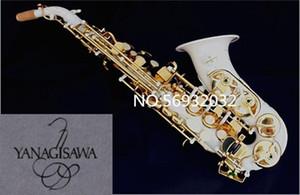 Nuevo saxofón curvo Yanagisawa S-991 Bb instrumento musical Saxofón soprano Pintura blanca actuación profesional Con estuche Gratis
