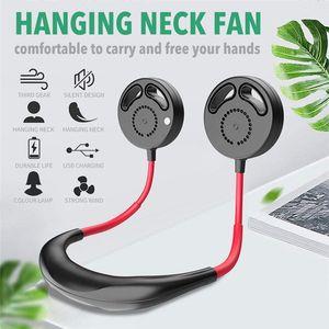 스포츠 여행 야외에 대한 손 무료 개인 미니 스포츠 팬 3 속도 조절을 충전 넓지 목 팬 휴대용 넥 밴드 팬 USB
