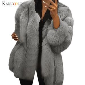 Kadın Trençkotlar S-5XL Vizon Kadınlar 2021 Kış Üst Moda Pembe Kürk Zarif Kalın Sıcak Giyim Sahte Ceket