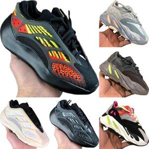 2020 Azael 700 V3 Static Reflective Kids Mesh Breathable Running Shoes Originals Kanye West 700 V2 Kids Buffer Rubber Jogging Shoes