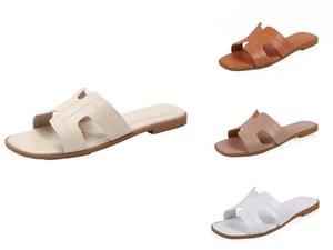 2020 zapatos de las mujeres del verano deslizadores de la hebilla Diseño Negro Plataforma Blanca deslizadores cómodos Mujeres suela gruesa de playa Calzado T200529 # 941
