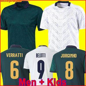 Italien-Fußball Jersey 2020 BARELLA SENSI INSIGNE 19 20 European Cup Renaissance CHIELLINI Bernardeschi Fußballhemd Männer + Kinder-Kit Uniformen