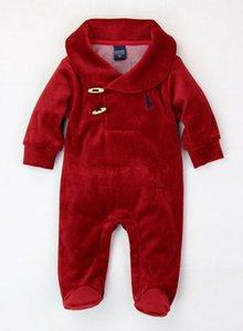 Novità del 2020 delle ragazze dei neonati del pagliaccetto cotone a maniche lunghe velet Abbigliamento Bambino Polo Tuta neonato di primavera vestiti del bambino