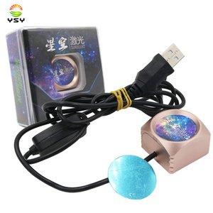 YSY USB LED Car Atmosfera laser ambiente Star Light Box bracciolo stellata Atmosfera luce del proiettore Lampada interna