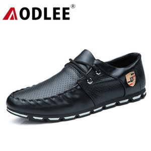 AODLEE Chaussures Hommes Casual 2019 Mode Printemps doux Mocassins Hommes Mocassins Chaussures en cuir Hommes Flats Chaussures Casual marche