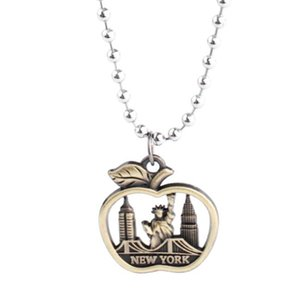Little Statue of Liberty Necklace Pendant Vintage Bronze Charms Collar Waxed rope Choker Necklace Jewelry Women Gifts Apple Friendship Gift