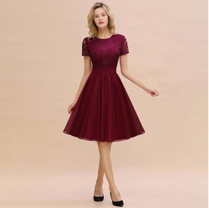 2020 Jewel promenade del merletto vestito da sera classica Prom manica corta abiti formali Ragazze