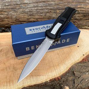 Borboleta Faca de bolso D2 lâmina BM 3300 4 exterior do estilo facas cabo da faca tático alumínio Aviação com bainha de nylon