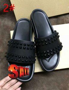 Donna Çivili Kırmızı alt terlik Tasarımcı Lüks Kırmızı Bottoms Ayakkabı erkekler Perçin Genç Dikenler Flatslipperswith boxs
