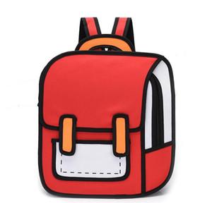 رسوم متحركة كارتونية ذات بعدين حقيبة ظهر فاخرة شخصية مميزة حقائب مدرسية عالية الجودة/