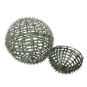 Marco durable de bola de la flor verde Inicio redonda Accesorios de fiesta artificial Planta flexible DIY Estantes decoración de la boda
