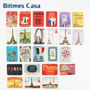 Bitimes Home Decoration 24 PCS Paris Tower Sights Fridge Magnets Set Refrigerator Magnetic Stickers France Travel Souvenir