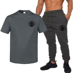 Chándales de diseño para hombre de las camisetas de los pantalones 2pcs sistemas de la ropa pone en cortocircuito los juegos de pantalones para hombre Nipsey hussle