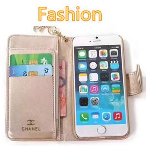 Lüks Tasarımcı Deri Cüzdan Telefon iPhone X XR Xs maks Vaka 6plus 7 7plus 8 8plus Üst Kalite sapanlar Telefon Kılıfı Kart Sahibi Kapak A02