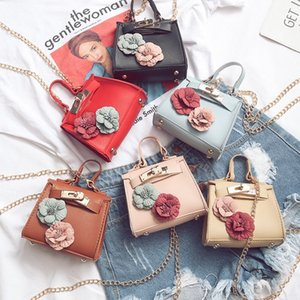 New 6 Colors INS Kids Girls Handbags Shoulder Bags Girls Cross-body Bags Flower Decoration Mom and Me Children Accessories Purse Wallet