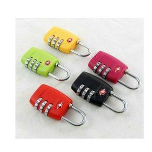 Tsa 3 cifre codice serratura doganale lucchetto a combinazione lucchetto valigia bagaglio da viaggio multi colore ripristinabile 8 8sq F1