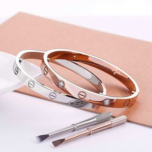 Art und Weise neu Roségold 316L Edelstahl Schraube Armbandarmband mit Schraubendreher und original Box nie verlieren Schmuck Großhandel Snap