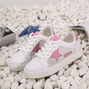 pattini del bordo delle donne di estate di commercio estero grande codice cave casuali scarpe piccole stelle di tendenza bianco scarpe da donna irrompono