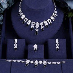 jankelly Nigeria Bridal Zirconia For Women Party Luxury Dubai Necklace Bracelet Earringa Rings CZ Crystal Wedding Jewelry Sets
