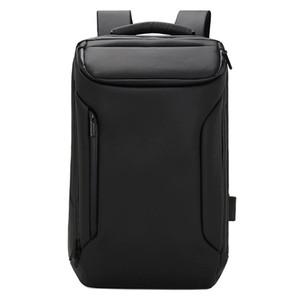 Новый Лидирующий Мода Бизнес Износостойкий водонепроницаемый компьютера Рюкзак USB Charging Рюкзак Многофункциональный Oxford School Bag Travel Pack