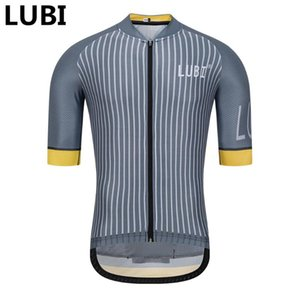 LUBI 2020 Men Pro Team Cycling Jersey Short Sleeve Anti-sweat Bike Shirt Breathable Racing MTB Clothes Wear Cycling Clothing