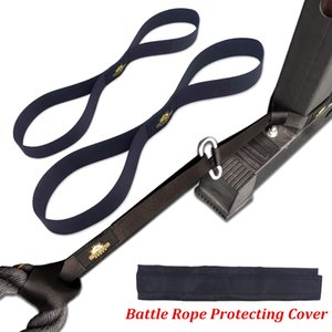 ports & Entertainment Fitness Battle Rope Anchor Strap Kit Heavy Duty Reinforced Nylon Big Size Easy Setup for Home Gym Outdoor Exercise ...