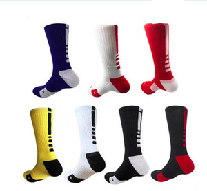 В наличии профессиональные элитные баскетбольные носки длинные коленные спортивные носки высокого качества мужская мода ходьба бег теннис спортивный носок