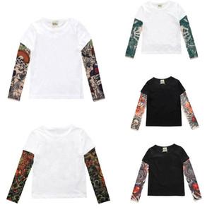Jungen-Kleidung Baumwoll-T-Shirt Langarm Kinder T-Shirts Novelty Tätowierung-Hülsen-Baby Tops Springautumn Kinderkleidung