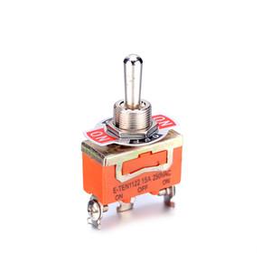 무료 배송 20 피스 미니 3 핀 ON-OFF-ON 3 파일 토글 스위치 15A 250V AC 오렌지 E-TEN1122 토글 스위치