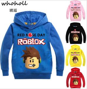 소년 스웨터를위한 Roblox Hoodies 셔츠 Red Noze Day 코스프레 어린이를위한 스웨터 아동 긴 소매 티셔츠 탑스