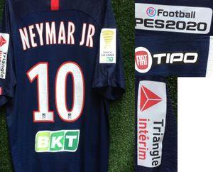 2020 купе-де-ла Ligue Неймар младший французский Кубок Лиги Mbappe Icardi Кавани матч Изношенные игрока Issue трико футбол патч значок