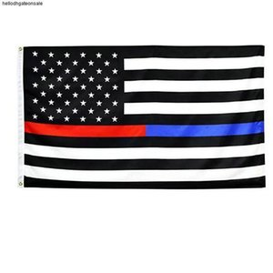 2016 Thin Blue Line American Flag 3 by 5 Foot Flag Honoring our Men and Women of Law Enforcement Black White and Blue mmj2010 VWENZ